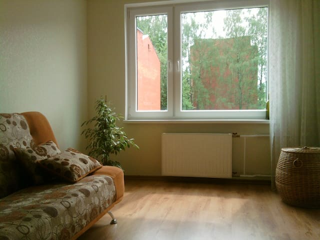 Simple flat in a quiet and beautiful town. - Ikšķile - Apartment