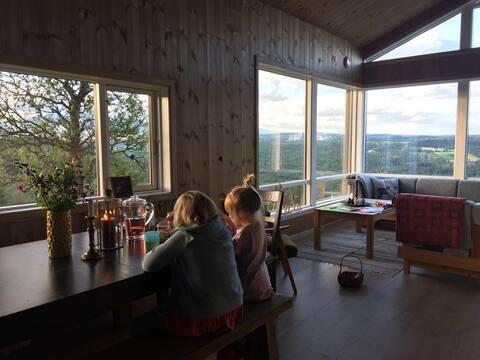 Hytte på Ål i Hallingdal, usjenert og god utsikt