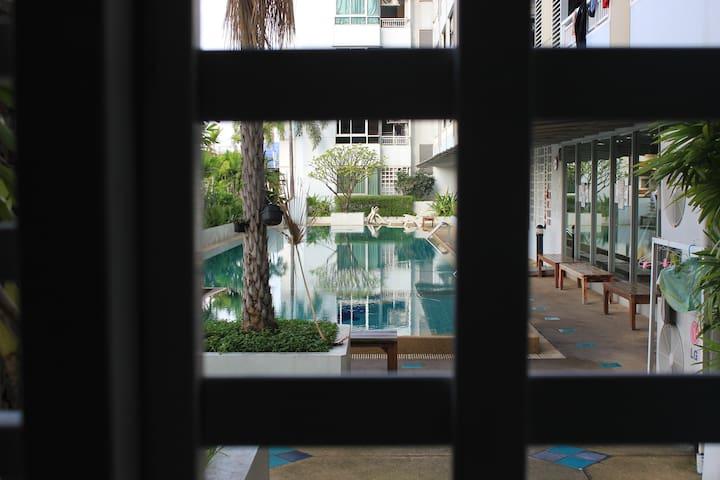Beautiful nice home Center of Bangkok near Silom - Banguecoque - Apartamento