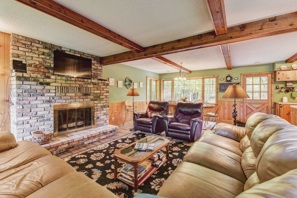 You'll feel right at home in the rustic, welcoming living area.