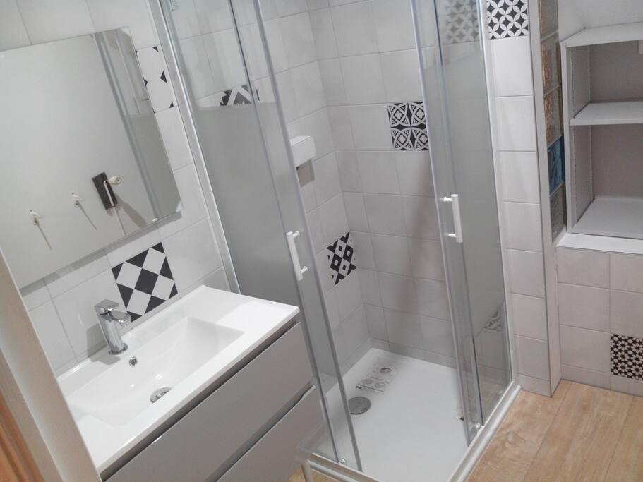 SdB vasque douche