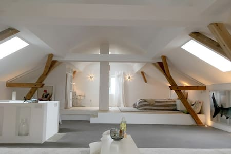 Renovated barn (loft) & small garden near Potsdam