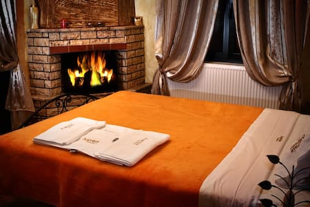 double room fire place
