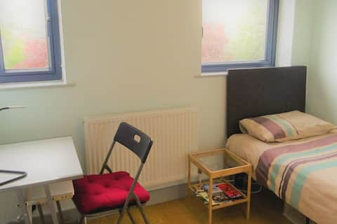 Modern single room with free on-street parking