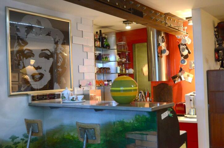 Studio Loft Pop Art / Denfert 14eme