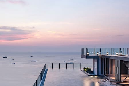 New 5mins walk to beach condo centre Pattaya - Muang Pattaya - Lyxvåning