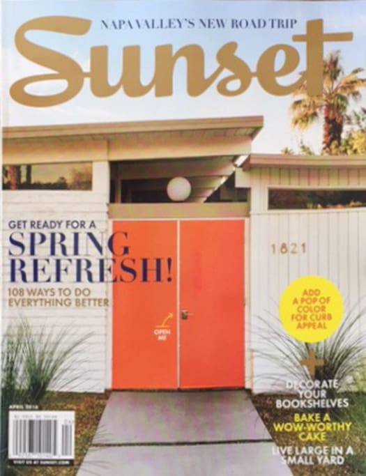 Everyone loves our orange doors...including Sunset Magazine!