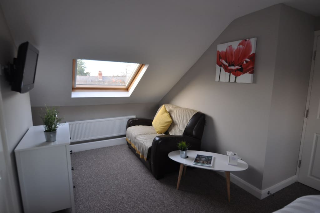 Lounge area of bedroom