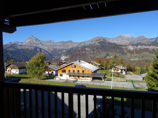 Appt vue montagne à 100 m du village et des pistes