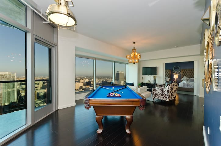High end pool table in the suite