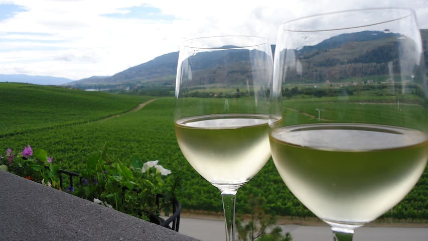 Over 40 wineries are within 20 minutes of Casa Osoyoos