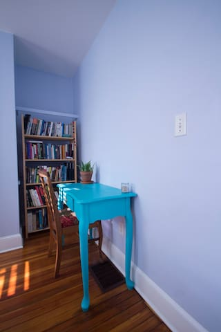 Small desk to use while you are staying in town.