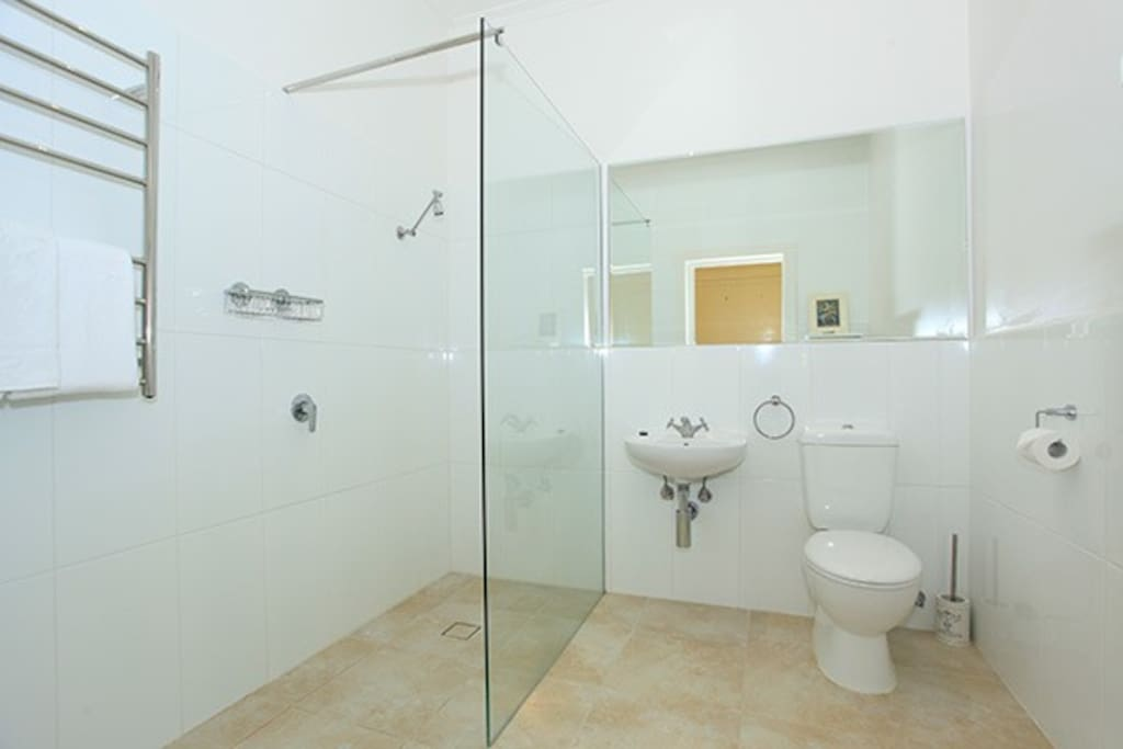 Private guest bathroom with easy accessibility.
