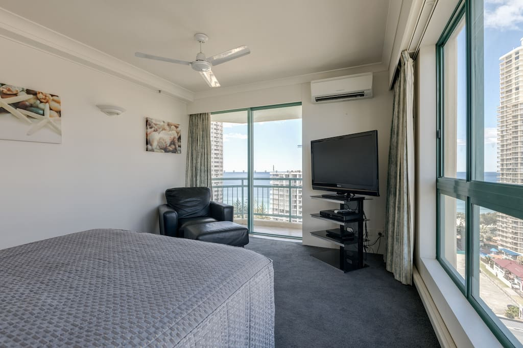 Master Bedroom with Balcony, Oceanview and Foxtel