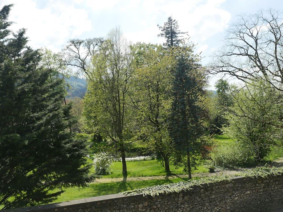 Blick auf den Schlosspark