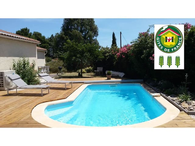 Villa 130m2 with air condit. 5 min from Herault