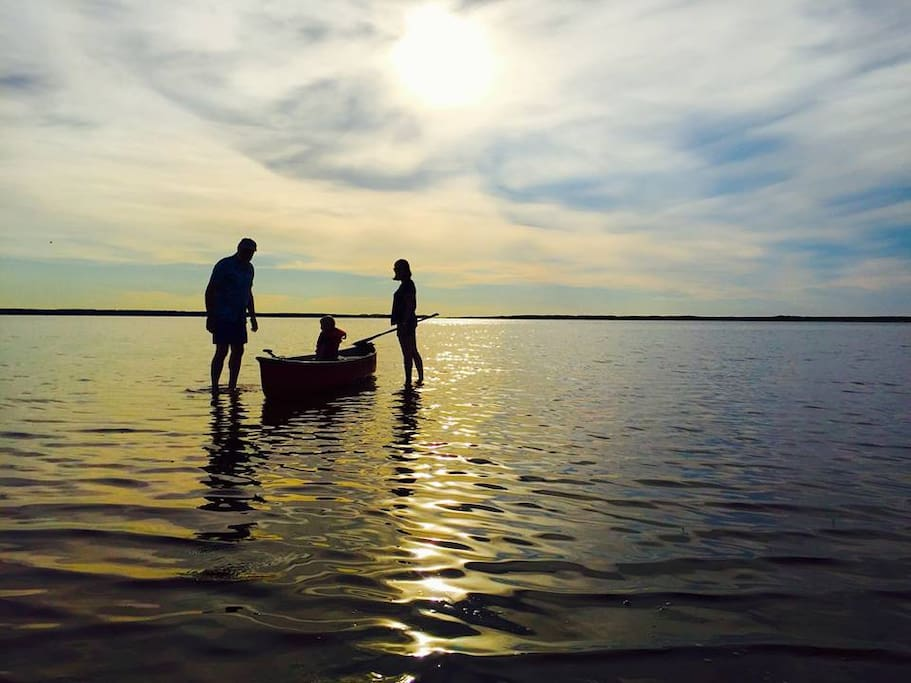 Canoeing with the family on Tracadie Bay.