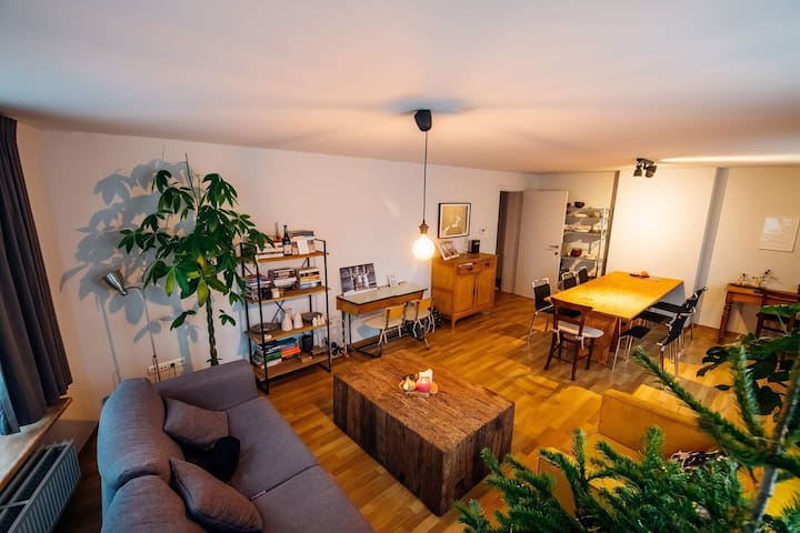 Spacious appartement 5' walk from train station