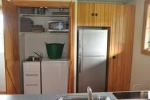 Washing machine, microwave, fridge, pantry