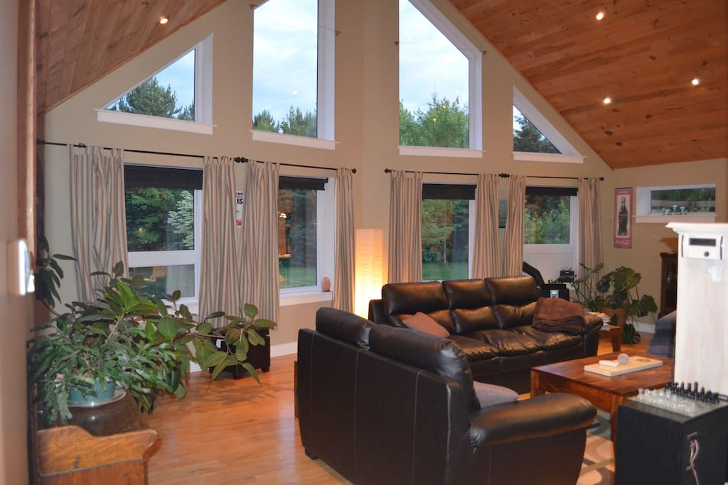 Great room facing South. lots of natural light