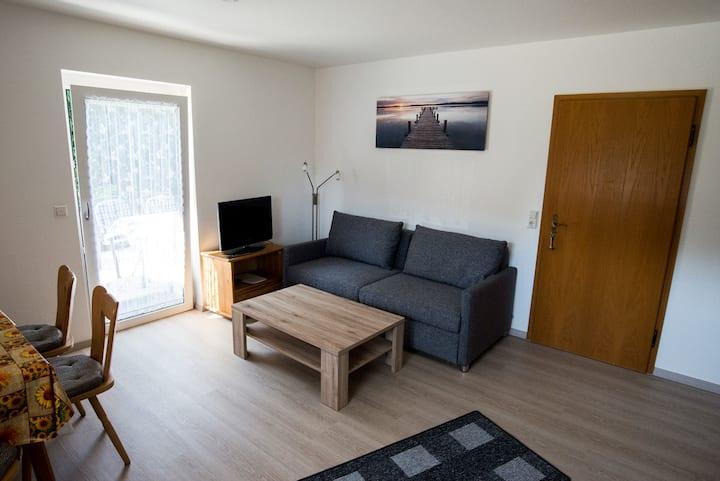 Gästehaus Reutemann, (Nonnenhorn), Ferienwohnung 3, 46 qm, 1 Schlafzimmer, Terrasse, max. 2 Personen