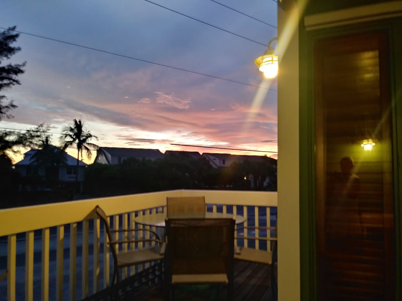 Sunset from upstairs front porch