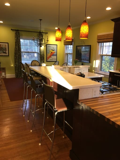 Here's the kitchen and dining area, everyone's favorite room.