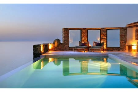 Villa CarpeDiem: sea & sunset view in Kea island - Melissaki - Haus