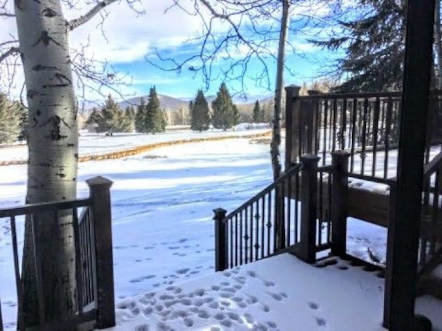 two level back deck overlooking the Park City Golf Course