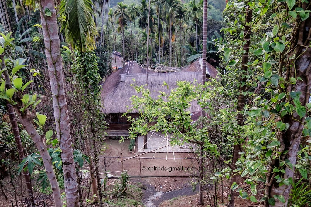 Traditional Bamboo and Straw-roof  House