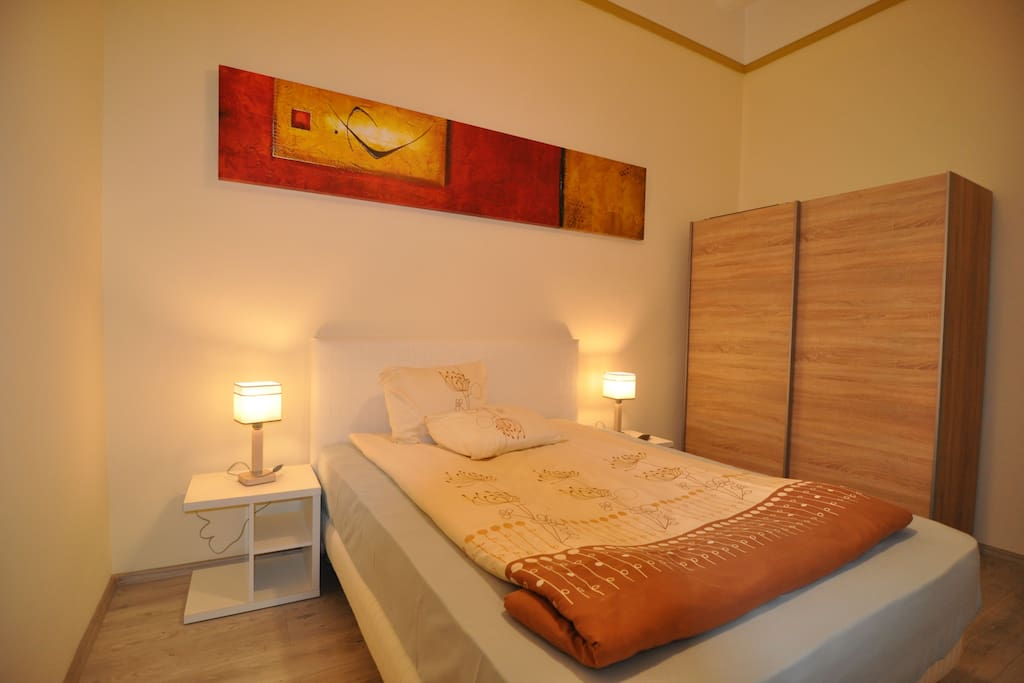 Bed in the white dormitory