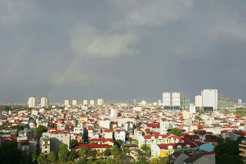 Hanoi panoramic view from the balcony
