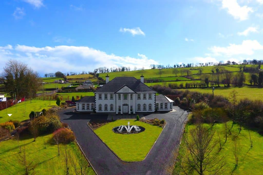 The white house ville in affitto a loughrea county for Piani di casa di campagna 1500 sq ft