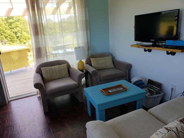 Living space includes cable television
