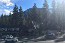 Wrightwood with Snow Capped Mountains