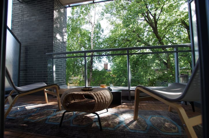 Modern loft with unique touches