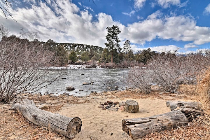 Riverfront Retreat on 40 Acres w/ Mountain Views!