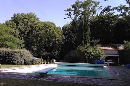 15 'FUTUROSCOPE stone house 12P heated pool - Villiers - 独立屋