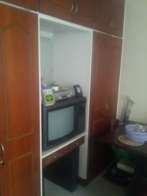 TV and closet space- TV has been replaced by flat screen, DSTV available for free