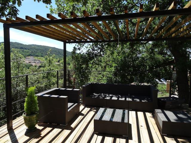 Maison de charme avec piscine - Saint-Romain-en-Viennois - Hus