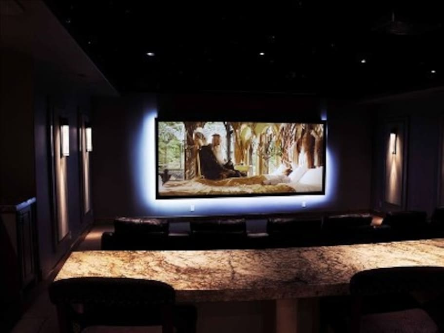 Incredible theatre room that sits 16 people.