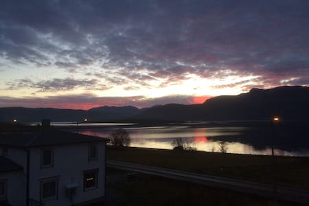Senja. - Gibostad - Hus