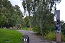 Children's play area in Edgar's Field