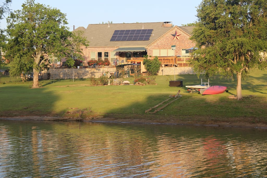 Our home seen from the lake.