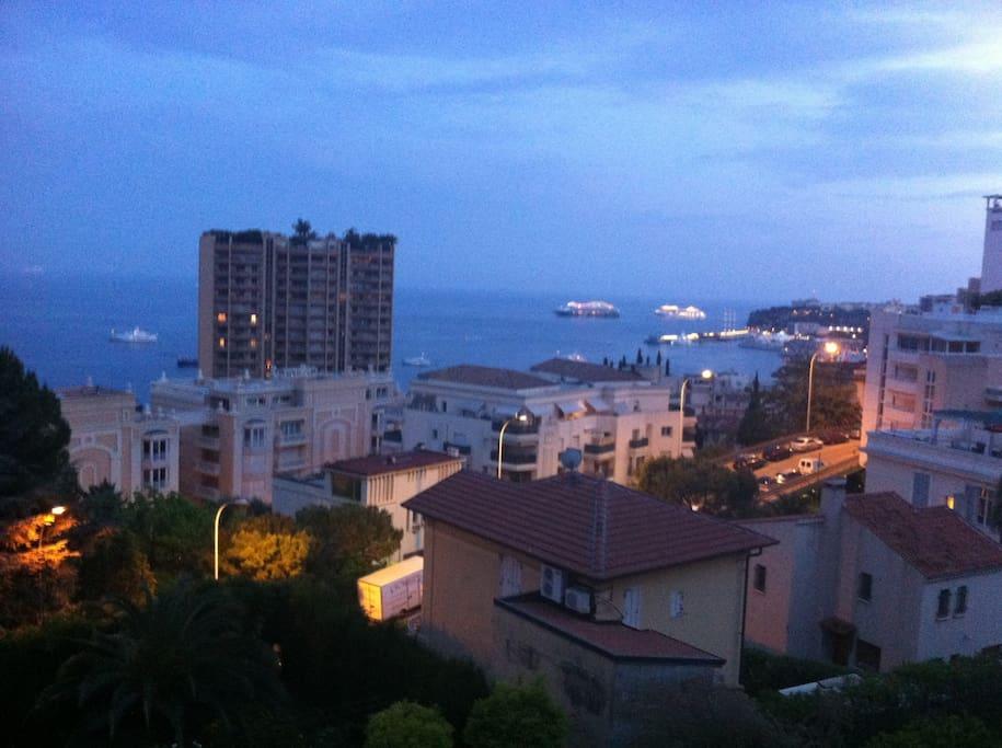 View from Terrasse ( PORT, CITY and CASTLE)......VUE DE LA TERRASSE...... VISTA DELLA TERRAZZA...