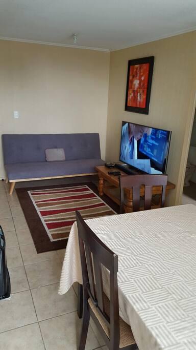 Living con tv cable y netflix
