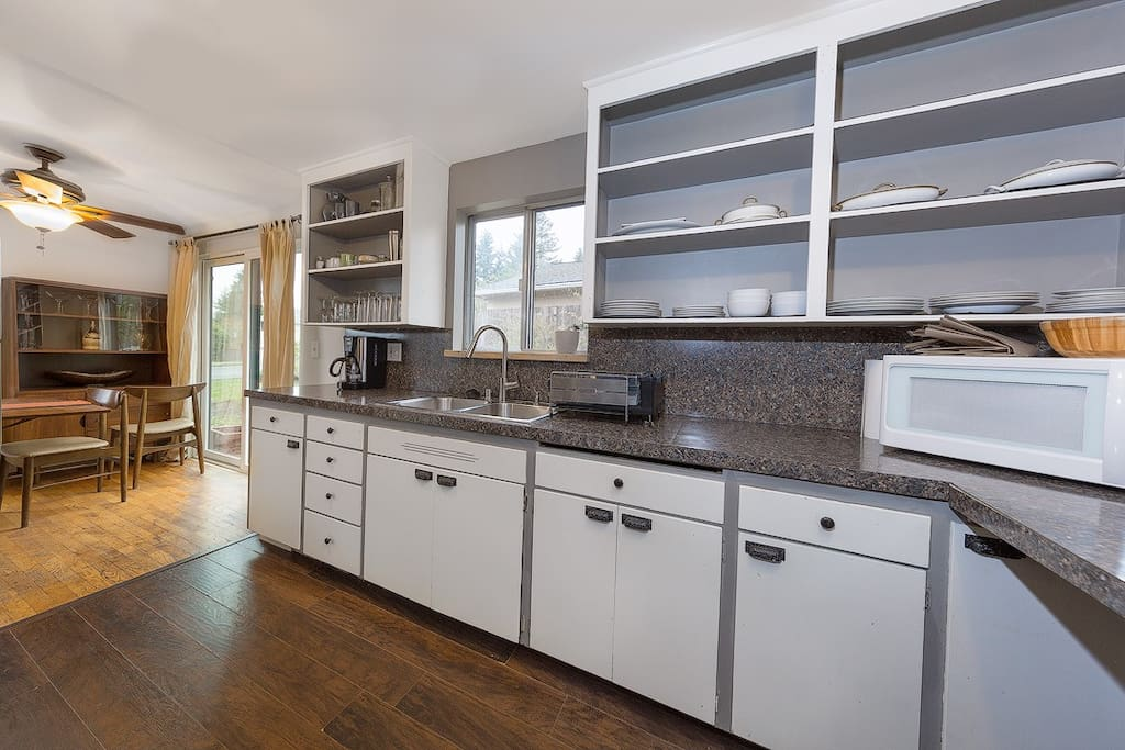 Kitchen with coffee maker
