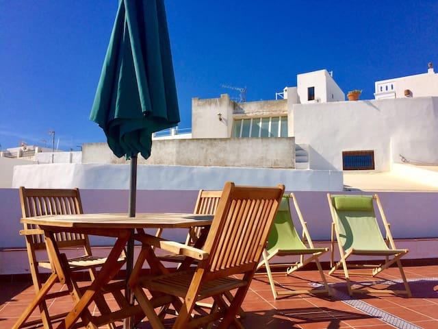 DAS HAUS Vejer, Wohnung Terrasse mit Blick auf