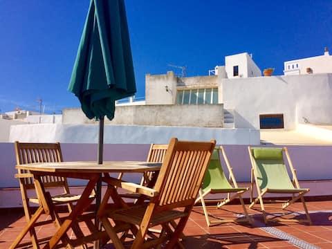 LA CASITA DE VEJER, apartamento terraza con vistas