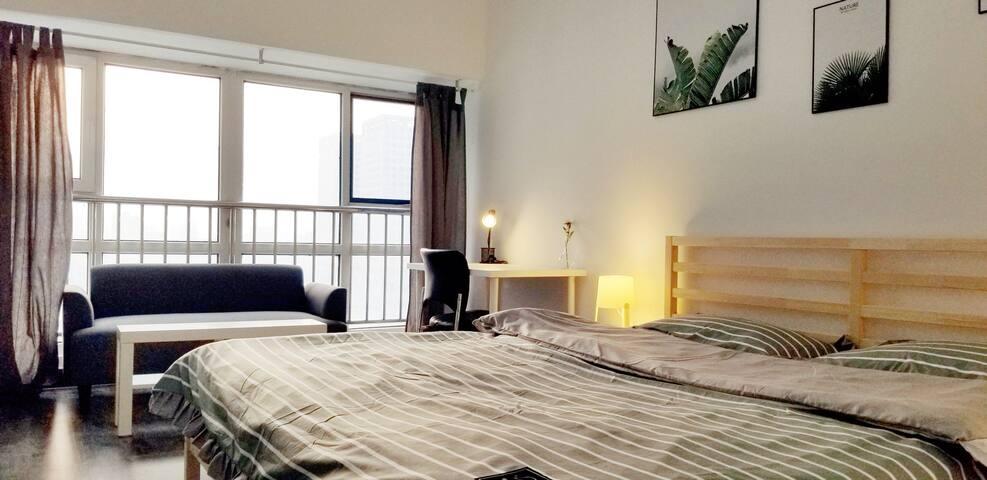 (14)运河城附近苏宁广场高级舒适大床房